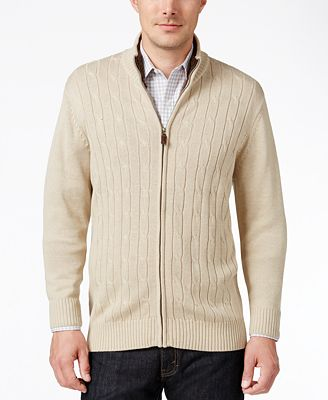 Tricots St Raphael Men's Cable-Knit Zip Sweater