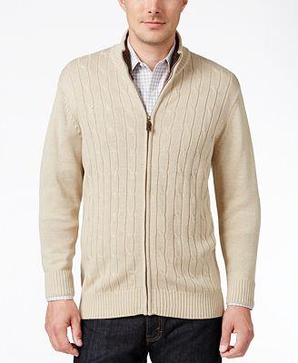 Tricots St Raphael Men's Cable-Knit Zip Sweater