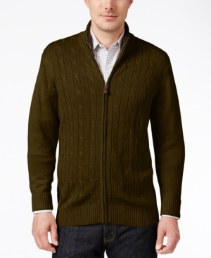 Men's Vintage Style Sweaters – 1920s to 1960s Tricots St Raphael Mens Cable-Knit Zip Sweater $9.99 AT vintagedancer.com