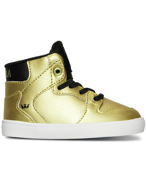 cb904759df46 ... SUPRA Toddler Boys  Vaider Casual Skate High Top Sneakers from Finish  ...