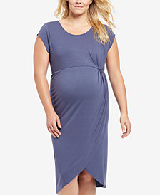 Motherhood Maternity Plus Size Cap-Sleeve Dress
