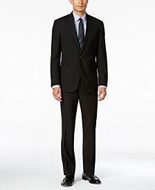 Kenneth Cole Reaction Men's Slim-Fit Black Stripe Suit