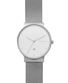 Skagen Men's Ancher Stainless Steel Mesh Bracelet Watch 40mm SKW6290