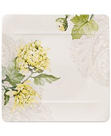 Quinsai Garden Collection Chrysanthemum Square Dinner Plate