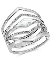 INC International Concepts Multi-Row Pointed Crystal Bangle Bracelet, Created for Macy's