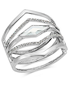 I.N.C. Multi-Row Pointed Crystal Bangle Bracelet, Created for Macy's