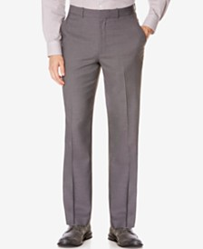 Perry Ellis Portfolio Big and Tall Classic-Fit No Iron Nailhead  Men's Dress Pants
