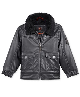 Hawke & Co. Faux-Leather Bomber Jacket, Toddler Boys (2-7) - Coats ...