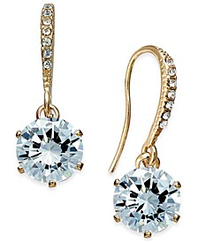 Gold-Tone Cubic Zirconia Drop Earrings, Created for Macy's