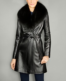 Leather Womens Coats - Macy's