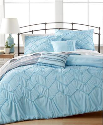 CLOSEOUT! Avery 5-Pc. Reversible Full Comforter Set