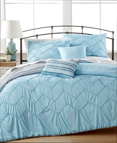 CLOSEOUT! Avery 5-Pc. Reversible Comforter Sets