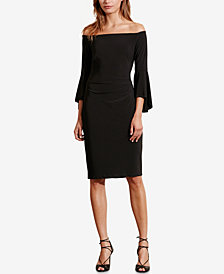 Lauren Ralph Lauren Off-The-Shoulder Sheath Dress