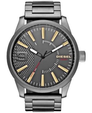 Diesel Men's Rasp Gunmetal Stainless Steel Bracelet Watch 46x53mm DZ1762