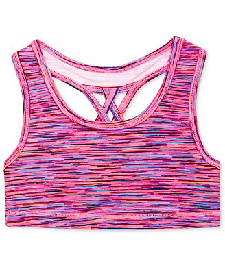 Ideology Girls' Multicolor Sports Bra, Only at Macy's - Underwear ...