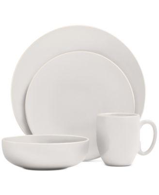 Vera Color White 16-Piece Dinnerware Set, Service for 4