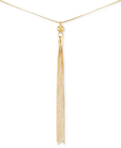 Italian gold tassel pendant necklace in 14k gold necklaces italian gold tassel pendant necklace in 14k gold aloadofball Image collections