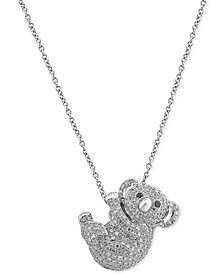EFFY® Diamond Koala Pendant Necklace (5/8 ct. t.w.) in 14k White Gold