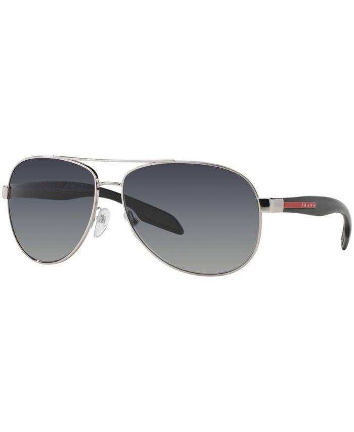 Prada Linea Rossa Polarized Sunglasses , PS 53PSP & Reviews - Sunglasses by Sunglass Hut - Men - Macy's