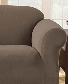 Sure Fit Stretch Pique 1-Piece Sofa Slipcover