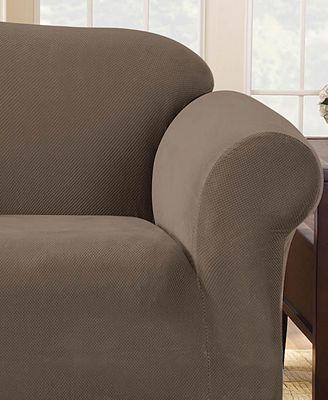 Sure Fit Stretch Pique 1 Piece Sofa Slipcover Slipcovers Home
