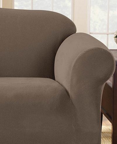 Sure Fit Stretch Pique 1-Piece Sofa Slipcover