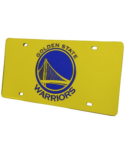 835a6b2486d86e Rico Industries Golden State Warriors Acrylic Laser Tag License Plate Cover