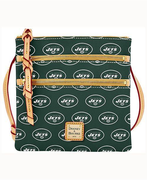 Dooney & Bourke New York Jets Triple-Zip Crossbody Bag