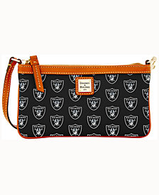 Dooney & Bourke Oakland Raiders Large Slim Wristlet