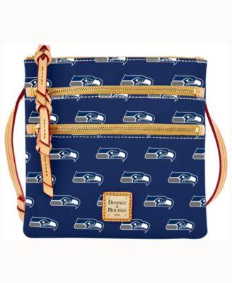 Seattle Seahawks Dooney & Bourke Triple-Zip Crossbody Bag