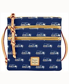 Dooney & Bourke Seattle Seahawks Dooney & Bourke Triple-Zip Crossbody Bag