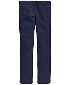 Big Girls School Uniform Stretch Bootcut Pants