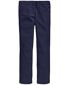 Nautica Big Girls School Uniform Stretch Bootcut Pants