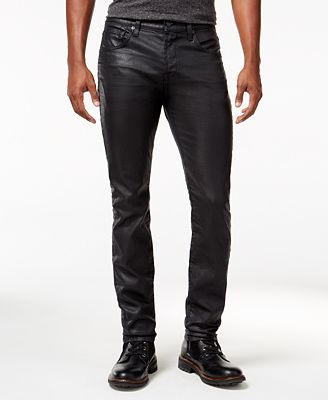 7 For All Mankind Men's Paxtyn Coated Matte Black Pants - Jeans ...