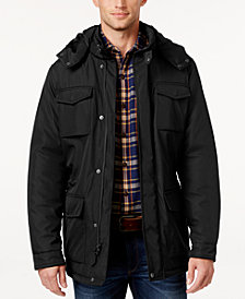 Perry Ellis Men's Big & Tall Field Jacket with Removable Hood