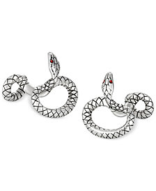 Montblanc Men's Sterling Silver Serpent Cufflinks 114752
