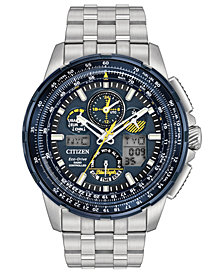 Citizen Eco-Drive Men's Analog-Digital Chronograph Skyhawk A-T Stainless Steel Bracelet Watch 47mm JY8058-50L
