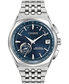 Citizen Eco-Drive Men's Satellite Wave Stainless Steel Bracelet Watch 44mm CC3020-57L