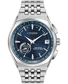 Citizen Eco-Drive Men's Satellite Wave Stainless Steel Bracelet Watch 44mm CC3020-57L