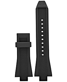 Michael Kors Access Men's Dylan Black Silicone Smart Watch Strap MKT9010