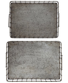 Decorative Iron Tray, Set of 2