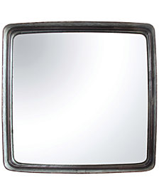 Square Iron Framed Mirror