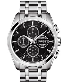 Men's Swiss Automatic Chronograph Couturier Stainless Steel Bracelet Watch 43mm T0356141105101
