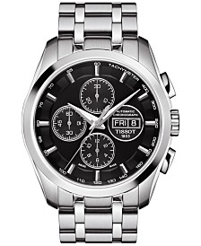 Tissot Men's Swiss Automatic Chronograph Couturier Stainless Steel Bracelet Watch 43mm T0356141105101