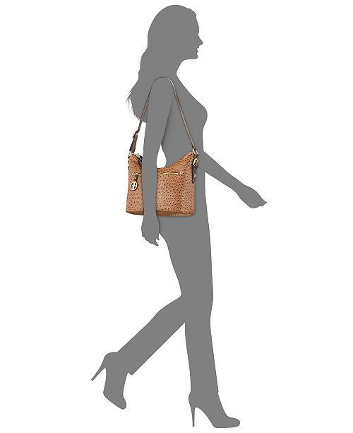 Giani Bernini Embossed Faux Ostrich Hobo Created For Macy S Handbags Accessories