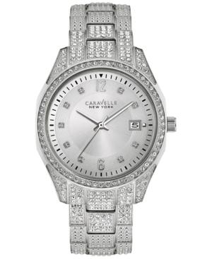 Caravelle New York by Bulova Women's Crystal Stainless Steel Bracelet Watch 36mm 43M112