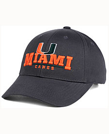 Top of the World Miami Hurricanes Charcoal Teamwork Snapback Cap