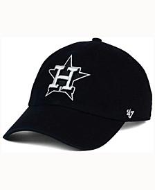 Houston Astros Black White Clean Up Cap