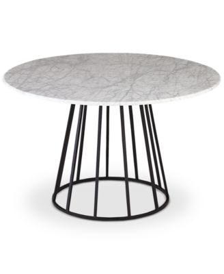 Callisto Marble Round Dining Table Created for Macys Furniture