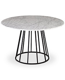 CLOSEOUT! Callisto Marble Round Dining Table, Created for Macy's